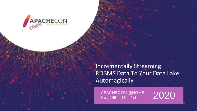 APACHECON @HOME Spt, 29th – Oct. 1st 2020