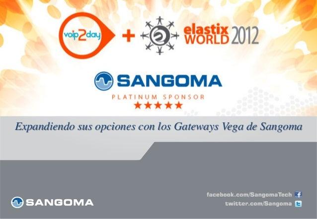 Expandiendo sus opciones con los Gateways Vega de Sangoma