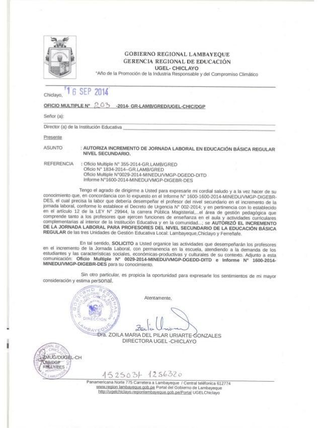 """GOBIERNO REGIONAL LAMBAYEQUE  GERENCIA REGIONAL DE EDUCACIÓN  UGEL- CHICLAYO """"Año de la Promoción de la Industria Responsa..."""