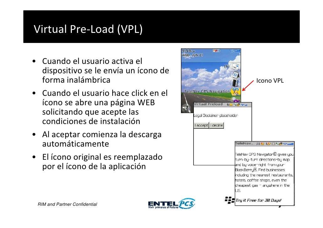 Virtual Pre-Load (VPL)  • Cuando el usuario activa el   dispositivo se le envía un ícono de   forma inalámbrica           ...