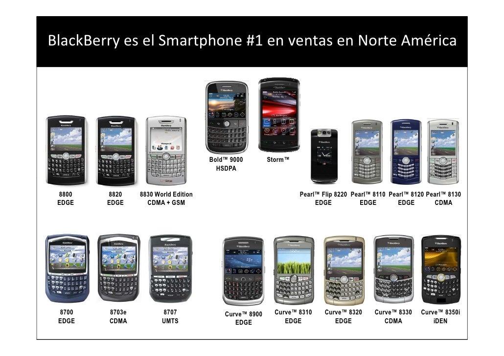 BlackBerry es el Smartphone #1 en ventas en Norte América                                                   Bold™ 9000    ...