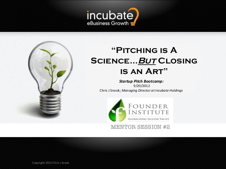 """""""Pitching is A                                               Science…But Closing                                          ..."""