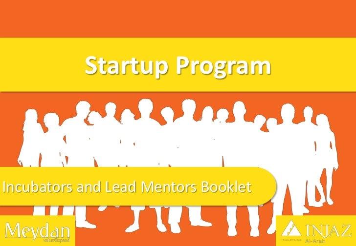 Startup ProgramIncubators and Lead Mentors Booklet