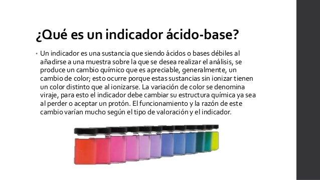 Indicadores Acido Base Quimica Analitica Y Metodos