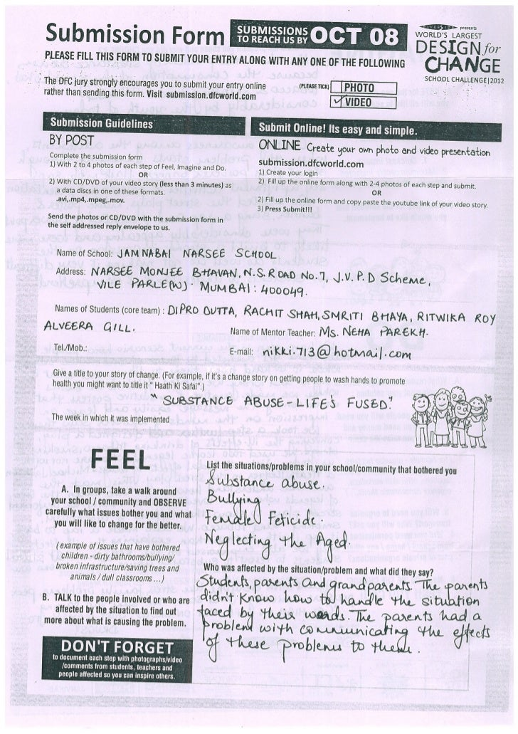 IND-2012-27 Jamnabai Narsee School Substance Abuse - Life's Fused