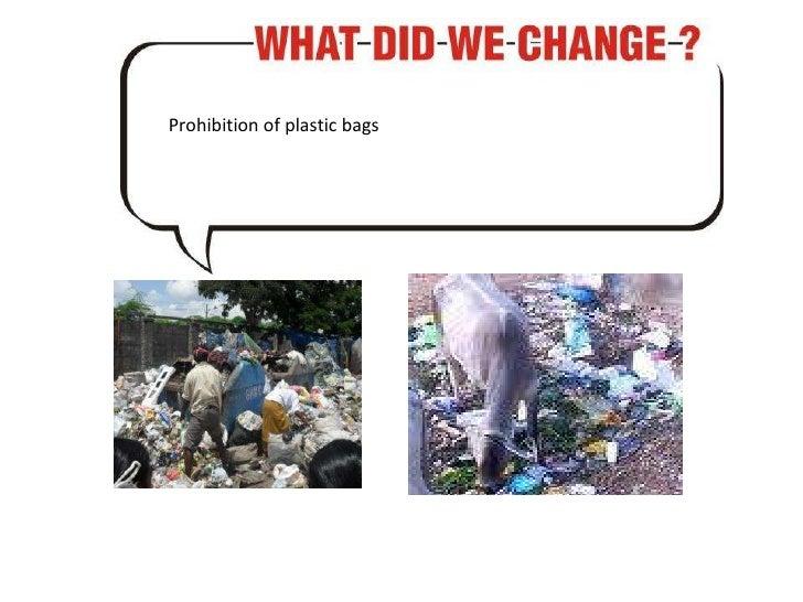 Prohibition of plastic bags