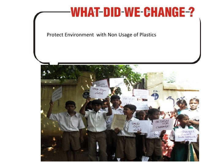 Protect Environment  with Non Usage of Plastics