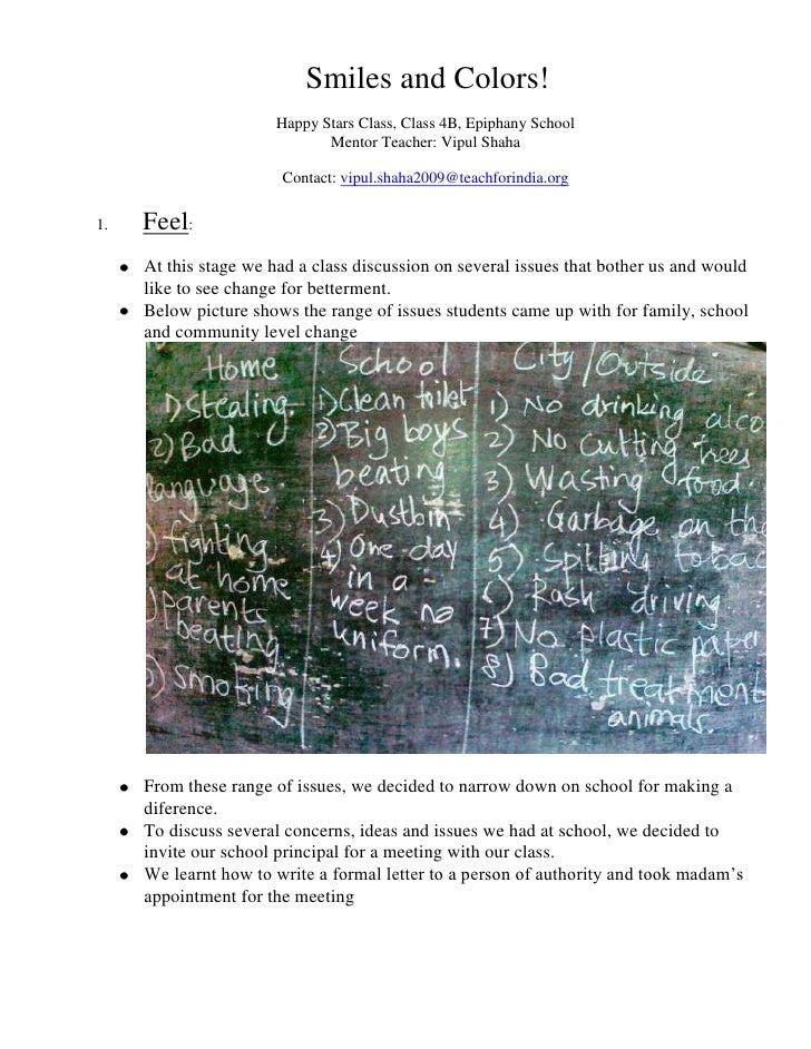 Smiles and Colors!<br />Happy Stars Class, Class 4B, Epiphany School<br />Mentor Teacher: Vipul Shaha<br />Contact: vipul...