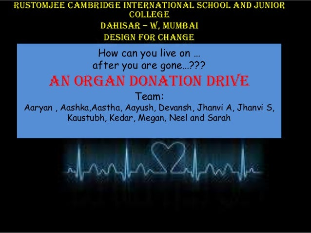 Rustomjee Cambridge International School and junior college Dahisar – W, Mumbai Design For change  How can you live on … a...