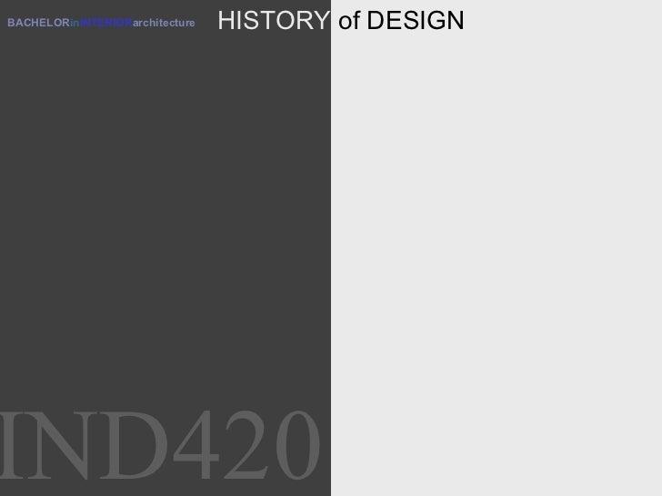 BACHELOR in INTERIOR architecture HISTORY  of DESIGN