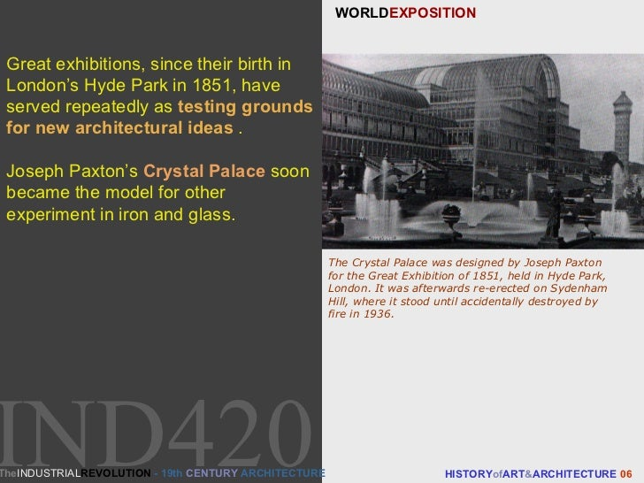WORLD EXPOSITION HISTORY of ART & ARCHITECTURE  06 Great exhibitions, since their birth in London's Hyde Park in 1851, hav...
