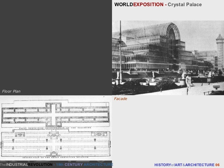 WORLD EXPOSITION -  Crystal Palace HISTORY of ART & ARCHITECTURE  06 Facade Floor Plan The INDUSTRIAL REVOLUTION  - 19th  ...