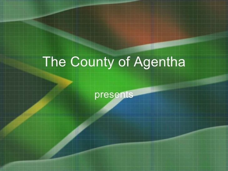 south africa flag powerpoint presentation template