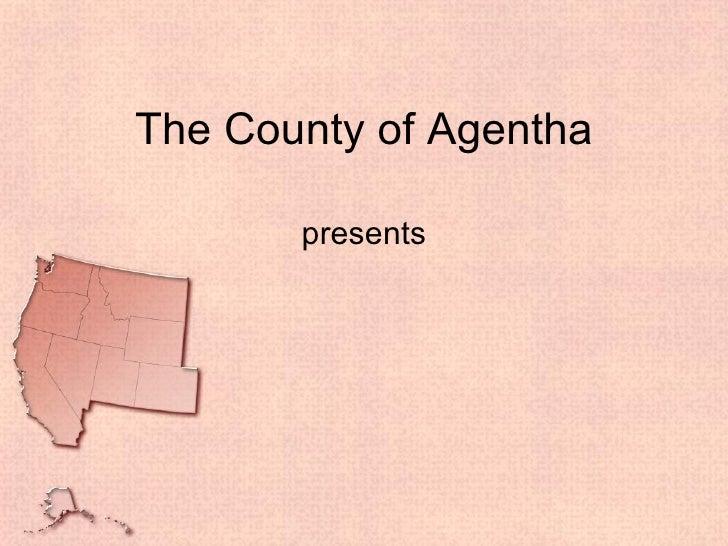 Usa west powerpoint presentation template usa west powerpoint presentation template the county of agentha presents toneelgroepblik Choice Image