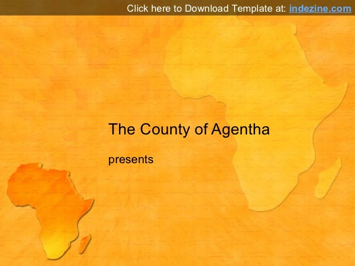 Africa map powerpoint template africa map powerpoint template the county of agentha presents click here to download template at indezine toneelgroepblik Gallery