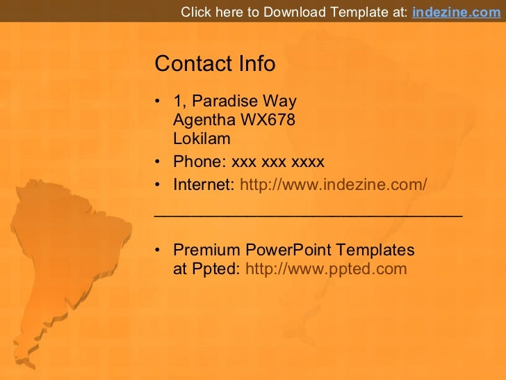 south america map powerpoint background