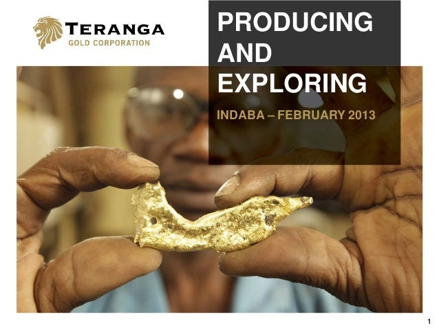 PRODUCINGANDEXPLORINGINDABA – FEBRUARY 2013                         1