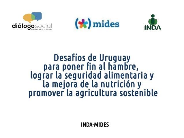 INDA-MIDES Desafíos de Uruguay para poner fin al hambre, lograr la seguridad alimentaria y la mejora de la nutrición y pro...