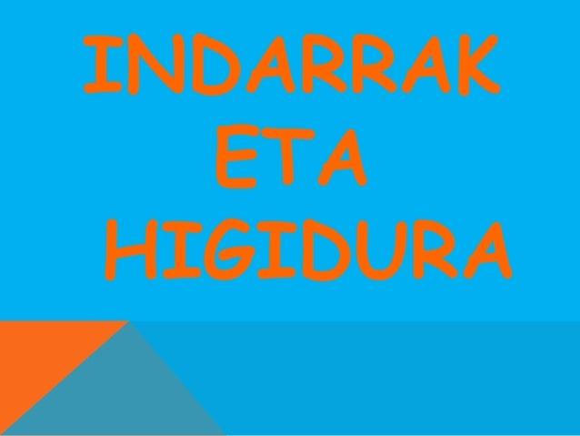 INDARRAK ETA HIGIDURA