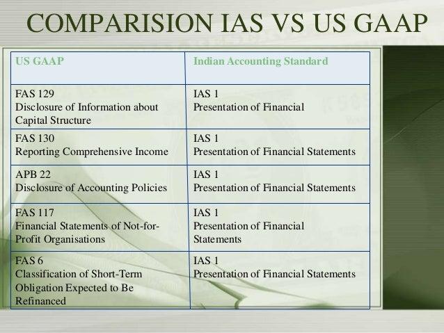 Ind as vs us gaap