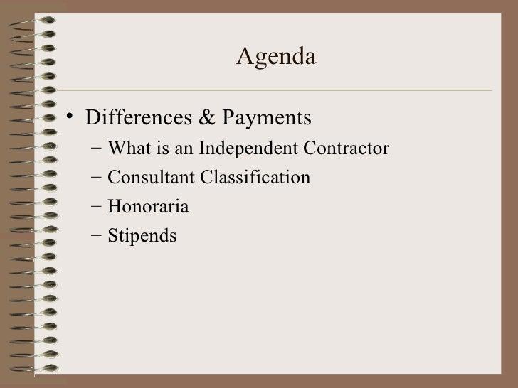 Ind Contractors Consultants Stipends
