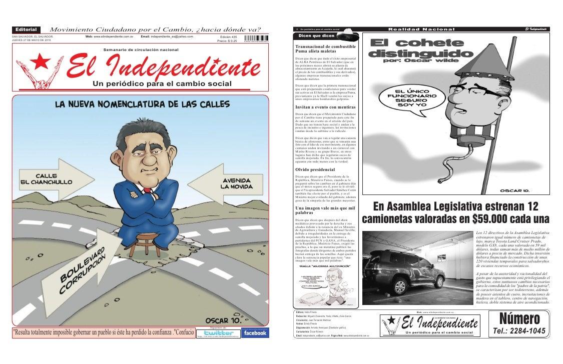 Editorial            Movimiento Ciudadano por el Cambio, ¿hacia dónde va?                                                 ...