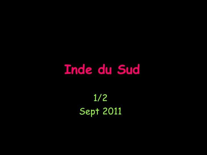 Inde du Sud     1/2  Sept 2011