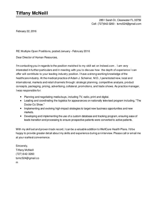 tiffany mcneill cover letter  resume  letters of rec