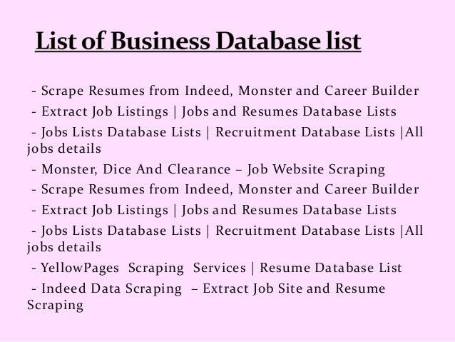 indeed com data scraping resume scraping