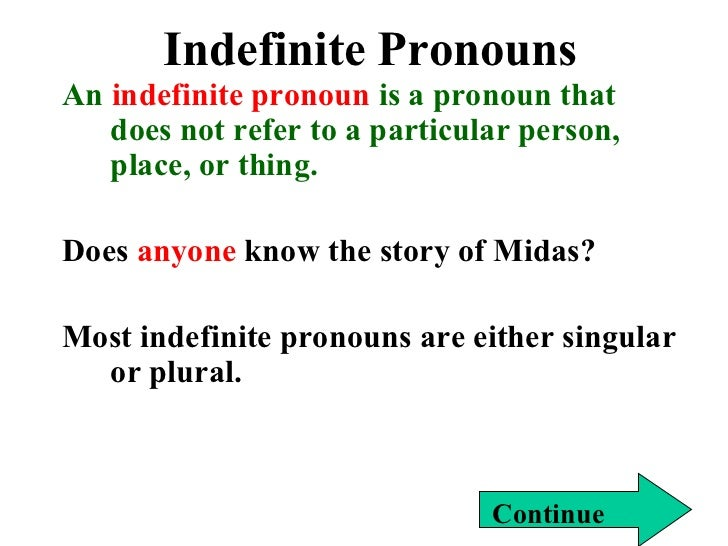 Indefinite and reflexive pronouns – Indefinite Pronoun Worksheet