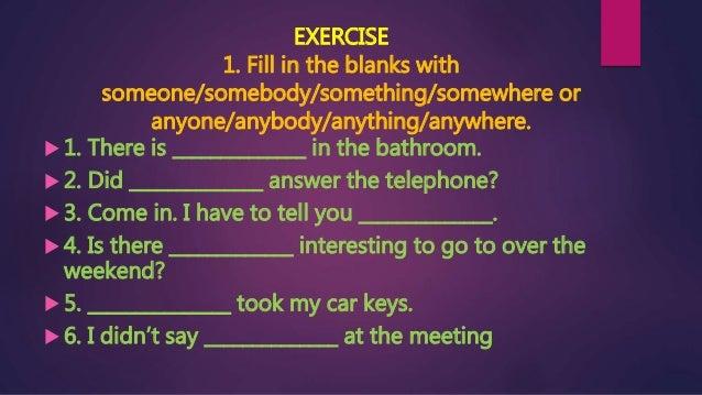 something anything nothing everything exercises pdf