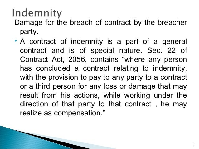 indemnity and guarantee notes pdf