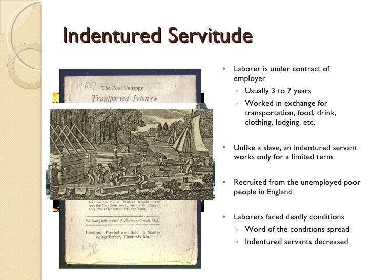indentured servitude Why did slavery replace indentured servitude in the britain's american colonies how did slavery grow and develop.