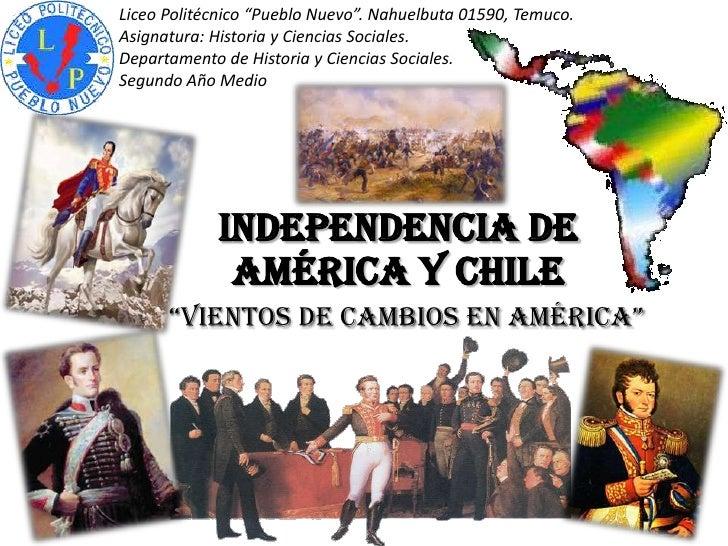 """Liceo Politécnico """"Pueblo Nuevo"""". Nahuelbuta 01590, Temuco.Asignatura: Historia y Ciencias Sociales.Departamento de Histor..."""