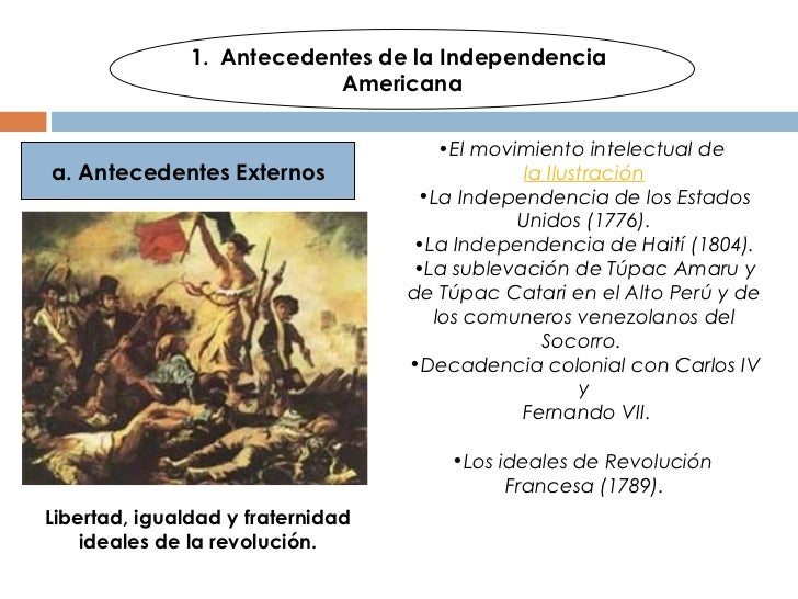 Independencia americana resumen for Muebles baratisimos online