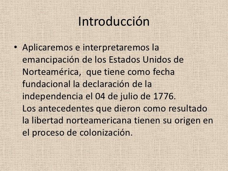 Independencia de estados unidos (2) Slide 3