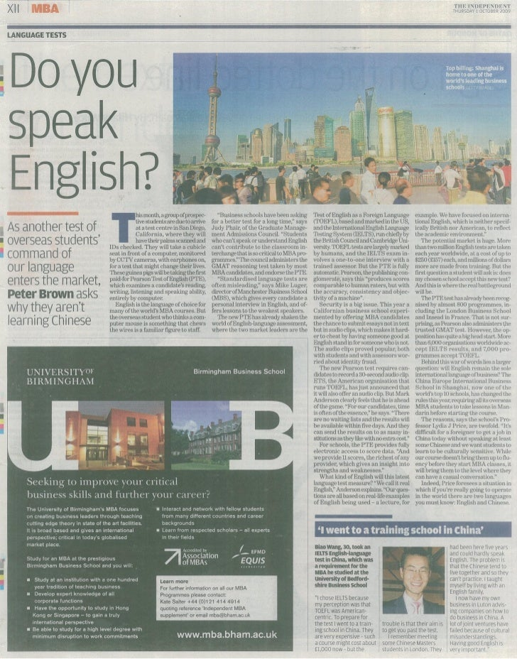 Independent   1 October 2009   Do You Speak English