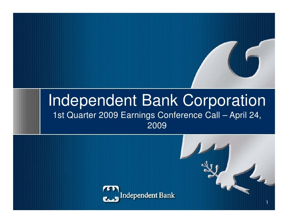 Independent Bank Corp. earning presentation