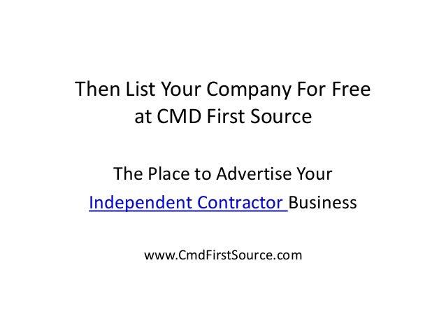 independent contractor list