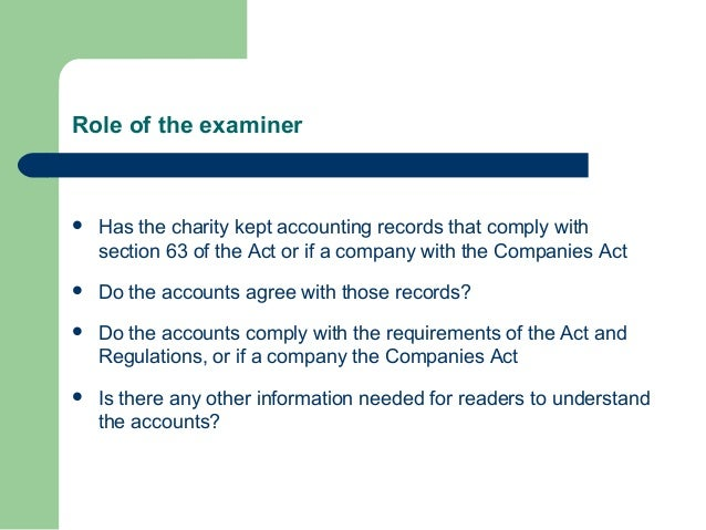 Independent examination and the role of an independent examiner Slide 3