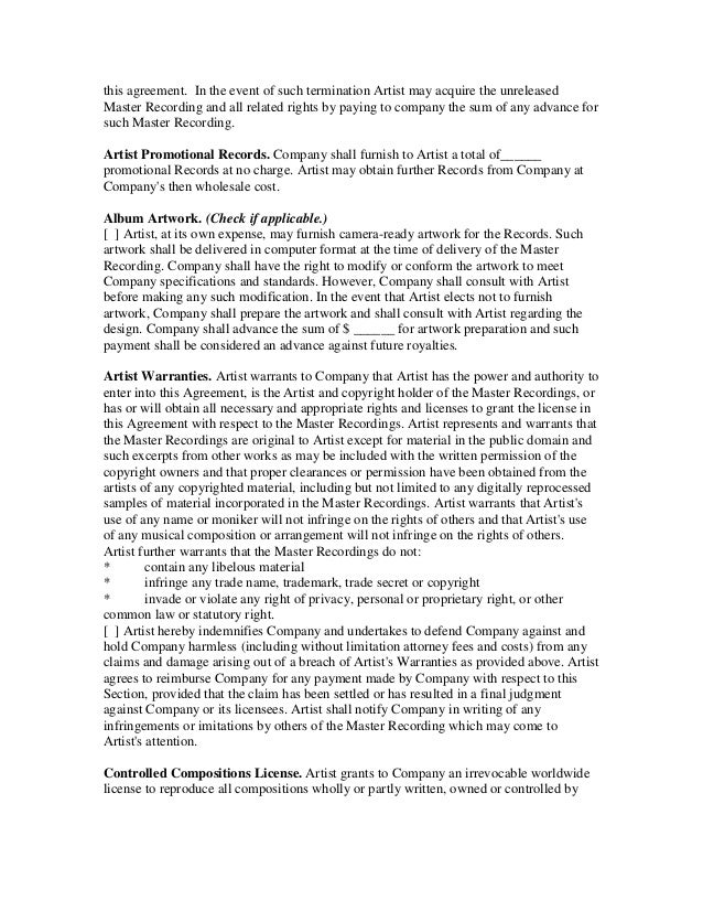 Record Deal Contract Template. 360 deal contract templates see a ...