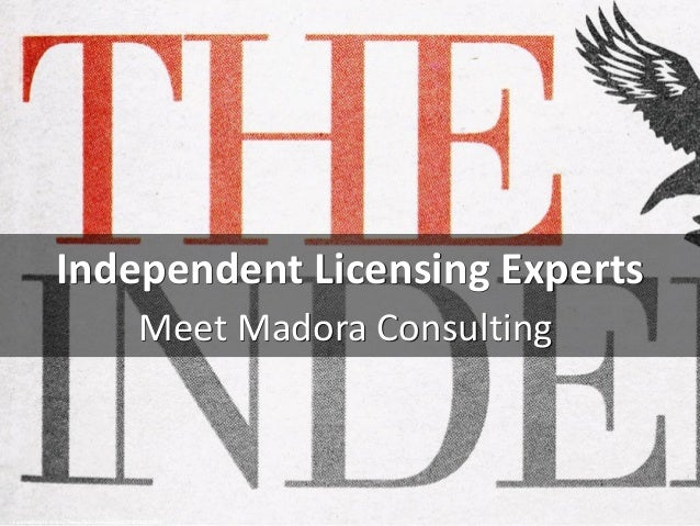 Independent Licensing Experts Meet Madora Consulting cc: boardshots - https://www.flickr.com/photos/27605401@N00
