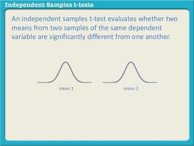 What Is An Independent Samples T Test