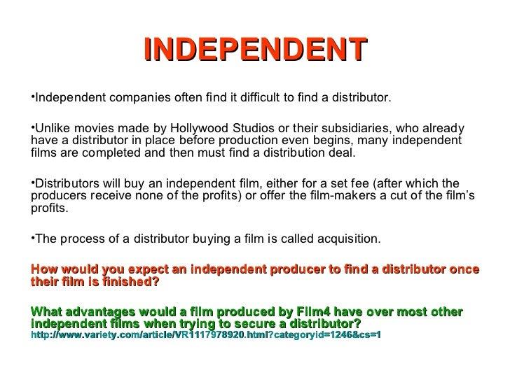 Independent v hollywood distribution
