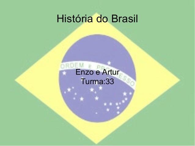 História do Brasil Enzo e Artur Turma:33
