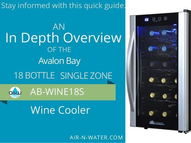 18 Bottle Avalon Bay AB-WINE18S Wine Fridge Black//Silver