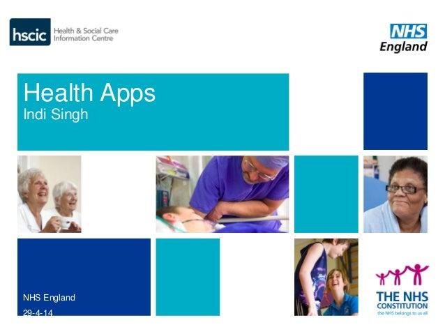 Health Apps Indi Singh NHS England 29-4-14