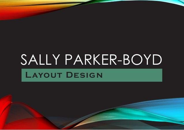 SALLY PARKER-BOYD Layout Design