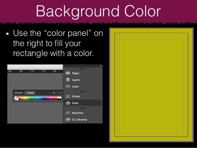 how to change the background color in indesign