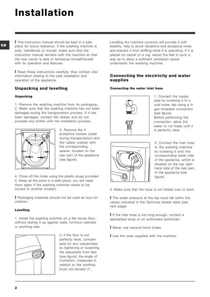Indesit washing machine manual iwd61450.